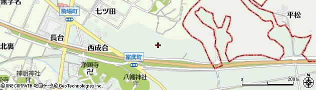愛知県西尾市家武町(向山)周辺の地図