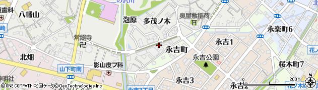 愛知県西尾市山下町(多茂ノ木)周辺の地図