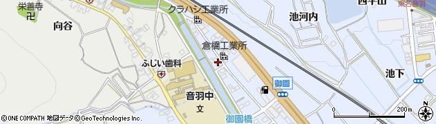愛知県豊川市赤坂町(青木)周辺の地図