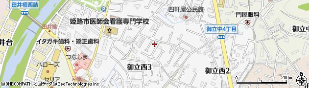 兵庫県姫路市御立西周辺の地図
