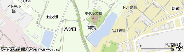 愛知県豊川市足山田町(年長)周辺の地図