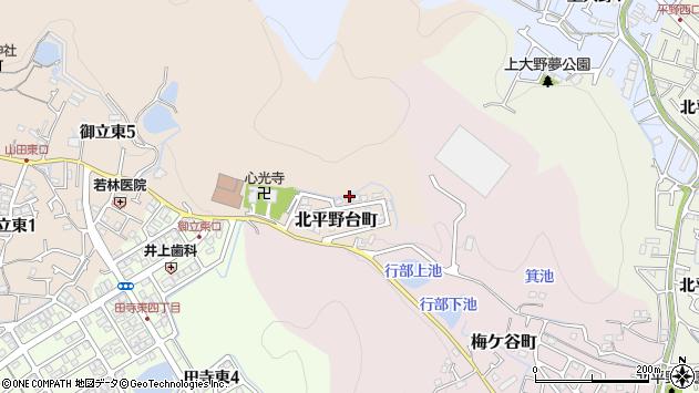 〒670-0895 兵庫県姫路市北平野台町の地図