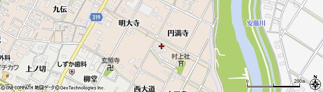 愛知県西尾市徳次町(円満寺)周辺の地図