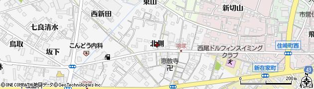 愛知県西尾市羽塚町(北側)周辺の地図