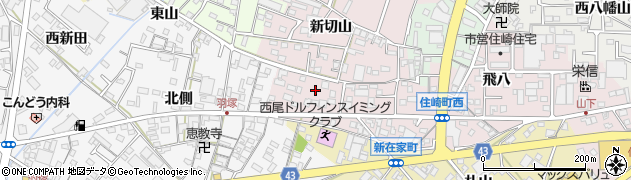 愛知県西尾市住崎町(経塚)周辺の地図