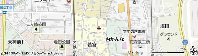 愛知県武豊町(知多郡)若宮周辺の地図
