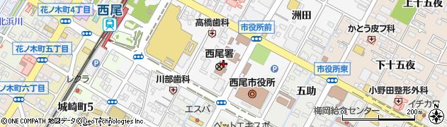 愛知県西尾市寄住町(下田)周辺の地図