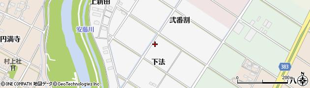 愛知県西尾市大和田町周辺の地図
