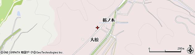 愛知県豊川市財賀町(大松)周辺の地図