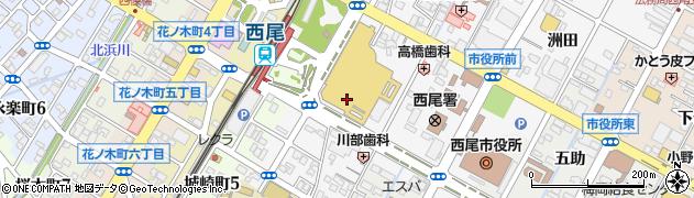 愛知県西尾市高畠町周辺の地図