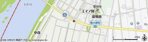 愛知県西尾市西小梛町(堤跡)周辺の地図