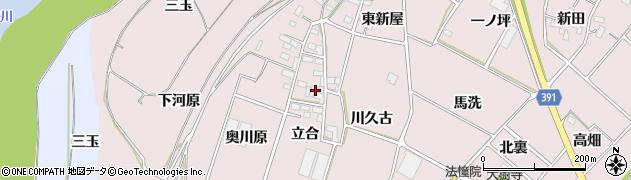 愛知県豊川市江島町(立合)周辺の地図