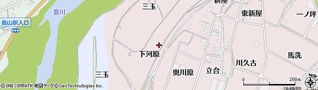 愛知県豊川市江島町(下河原)周辺の地図