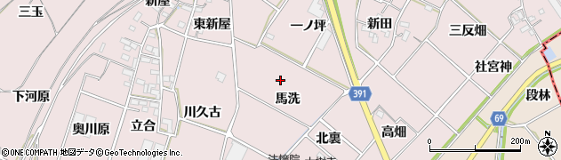 愛知県豊川市江島町周辺の地図