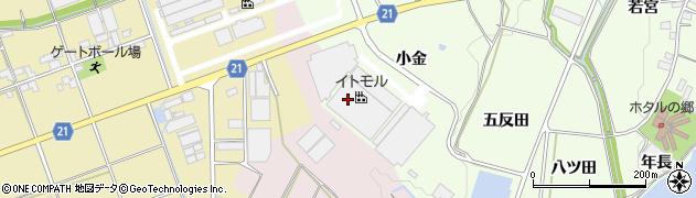 愛知県豊川市足山田町(小金)周辺の地図