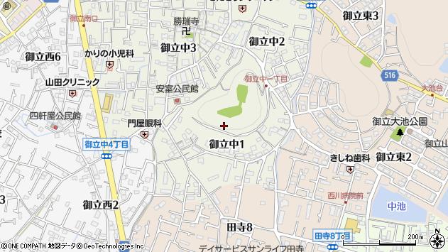 〒670-0073 兵庫県姫路市御立中の地図