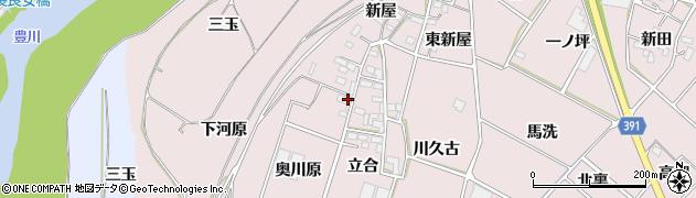 愛知県豊川市江島町(奥川原)周辺の地図