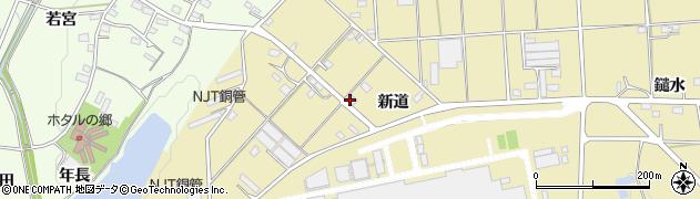 愛知県豊川市大木町(新道)周辺の地図
