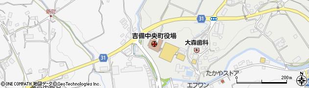 岡山県加賀郡吉備中央町周辺の地図