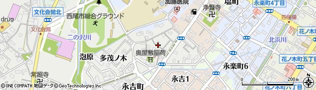 愛知県西尾市葵町周辺の地図