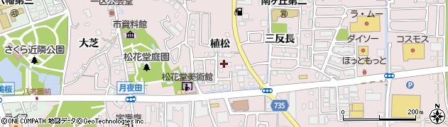 京都府八幡市八幡(植松)周辺の地図