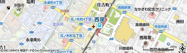 愛知県西尾市住吉町周辺の地図
