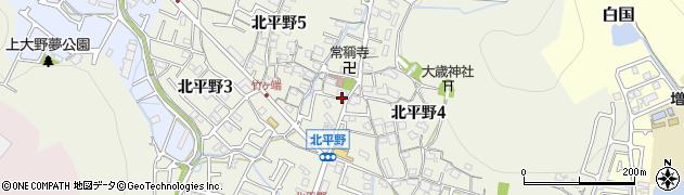 兵庫県姫路市北平野周辺の地図