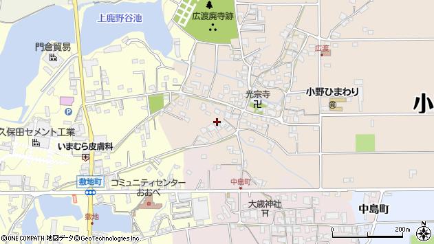 〒675-1365 兵庫県小野市広渡町の地図