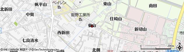 愛知県西尾市羽塚町(東山)周辺の地図