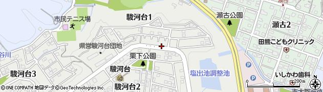 静岡県藤枝市駿河台周辺の地図