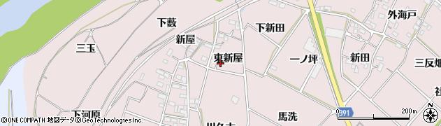 愛知県豊川市江島町(東新屋)周辺の地図