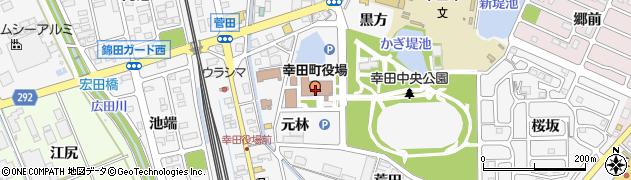 愛知県額田郡幸田町周辺の地図