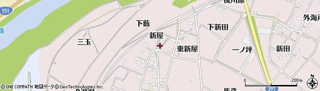 愛知県豊川市江島町(新屋)周辺の地図
