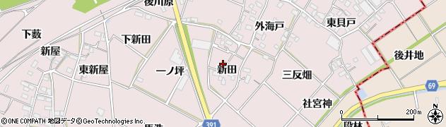愛知県豊川市江島町(新田)周辺の地図