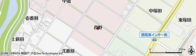 愛知県西尾市和気町(葭野)周辺の地図