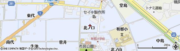 京都府八幡市内里(北ノ口)周辺の地図