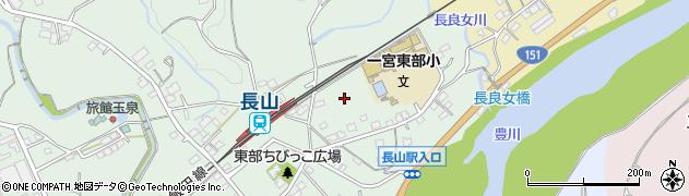 愛知県豊川市上長山町(東水神平)周辺の地図