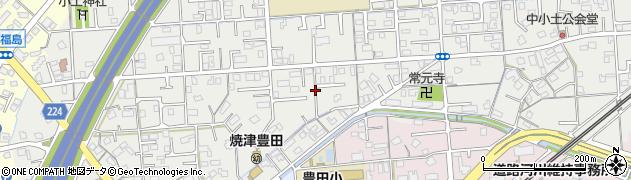 静岡県焼津市小土周辺の地図