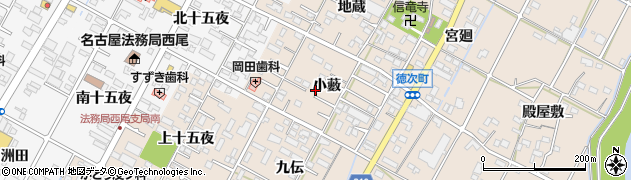 愛知県西尾市徳次町(小藪)周辺の地図