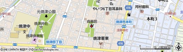 貞善院周辺の地図