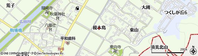 愛知県西尾市駒場町(榎木島)周辺の地図