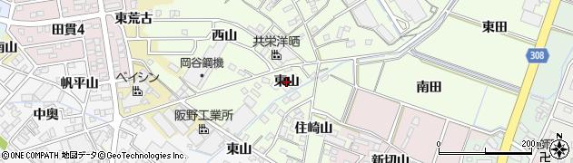 愛知県西尾市法光寺町(東山)周辺の地図