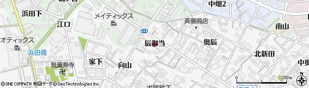 愛知県西尾市平坂町(辰御当)周辺の地図