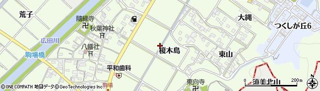 愛知県西尾市駒場町周辺の地図
