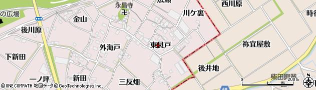 愛知県豊川市江島町(東貝戸)周辺の地図