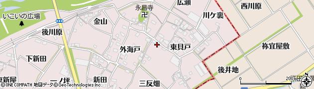 愛知県豊川市江島町(三反畑)周辺の地図