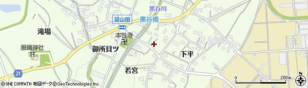 愛知県豊川市足山田町(若宮)周辺の地図
