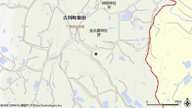〒673-1236 兵庫県三木市吉川町東田の地図