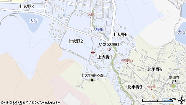 〒670-0896 兵庫県姫路市上大野の地図