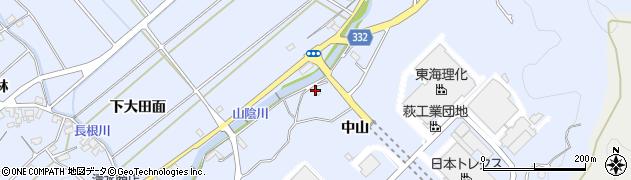 愛知県豊川市萩町(中山)周辺の地図